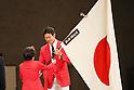 (L-R)  Seiko Hashimoto, Keisuke Ushiro (JPN), <br /> AUGUST 25, 2016 : <br /> Rio 2016 Olympic Japan Delegation disbandment ceremony in Tokyo, Japan. <br /> (Photo by Yohei Osada/AFLO SPORT)