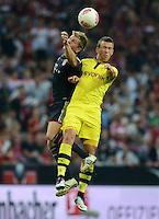 FUSSBALL   1. BUNDESLIGA   SAISON 2012/2013   SUPERCUP FC Bayern Muenchen - Borussia Dortmund            12.08.2012 Toni Kroos (li, FC Bayern Muenchen) gegen Ivan Perisic (Borussia Dortmund)