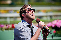 American Idol contestant, Elliott Yamin performs at the 2012 Santa Anita Derby at Santa Anita Park in Arcadia California on April 7, 2012.