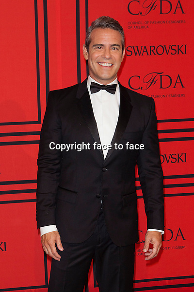 NEW YORK, NY - JUNE 3: Andy Cohen at the 2013 CFDA Fashion Awards at Lincoln Center's Alice Tully Hall in New York City. June 3, 2013. <br /> Credit: MediaPunch/face to face<br /> - Germany, Austria, Switzerland, Eastern Europe, Australia, UK, USA, Taiwan, Singapore, China, Malaysia, Thailand, Sweden, Estonia, Latvia and Lithuania rights only -