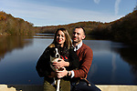 Nicole and Kevin's fall engagement photos with doggie, Indie, in Pocantico Hills, New York.<br /> <br /> Prelude to their October 2020 wedding photography at Abigail Kirsch at Tappan Hill