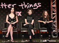PASADENA, CA - FEBRUARY 4: (L-R) Cast Members Mikey Madison, Hannah Alligood, and Olivia Edward during the BETTER THINGS panel for the 2019 FX Networks Television Critics Association Winter Press Tour at The Langham Huntington Hotel on February 4, 2019 in Pasadena, California. (Photo by Frank Micelotta/FX/PictureGroup)