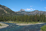WY: Wyoming, Cody..Cody Peak along North Fork of Shoshone River..Photo #: yellow983..Photo copyright Lee Foster, 510/549-2202, lee@fostertravel.com, www.fostertravel.com..