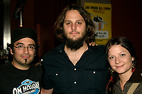 members of  les Cowboy Fringants attend the lauch of LES TROIS ACCORDS new album : Grand Champion International de course, September 5th 2006 at Club Soda in Montreal<br /> Photo by JP Proulx/ Images Distribution