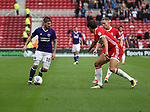 Kieron Freeman of Sheffield Utd in action with George Friend of Middlesbrough during the Sky Bet Championship match at the Riverside Stadium, Middlesbrough. Picture date: August 12th 2017. Picture credit should read: Jamie Tyerman/Sportimage