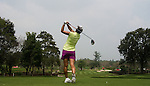 CHON BURI, THAILAND - FEBRUARY 16:  Mina Harigae of USA tees off on the 15th hole during day one of the LPGA Thailand at Siam Country Club on February 16, 2012 in Chon Buri, Thailand.  Photo by Victor Fraile / The Power of Sport Images