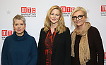 "Rona Munro, Laura Linney and Elizabeth Strout during the ""My Name Is Lucy Barton"" Photo Call at the MTC Rehearsal Studio on December 12, 2019 in New York City."