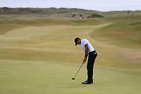 Julian Suri (USA) putts on the 15th green during Friday's Round 2 of the 2018 Dubai Duty Free Irish Open, held at Ballyliffin Golf Club, Ireland. 6th July 2018.<br /> Picture: Eoin Clarke | Golffile<br /> <br /> <br /> All photos usage must carry mandatory copyright credit (&copy; Golffile | Eoin Clarke)