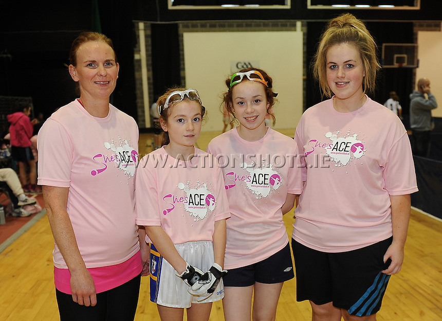 17th November 2013; Fibeal Gallagher, Grace Shannon, Karen Cosgrave, Michelle McCarthy. She's Ace - Women in handball event, Breaffy House Sports Arena, Castlebar, Co Mayo. Picture credit: Tommy Grealy/actionshots.ie.