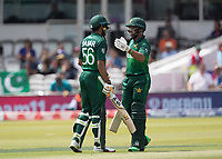 Imam-ul-Haq (Pakistan) congratulates Babar Azam (Pakistan) on his half century during Pakistan vs Bangladesh, ICC World Cup Cricket at Lord's Cricket Ground on 5th July 2019