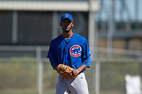Chicago Cubs relief pitcher Ivan Medina (65) during a Minor League Spring Training game against the Los Angeles Angels at Sloan Park on March 20, 2018 in Mesa, Arizona. (Zachary Lucy/Four Seam Images)