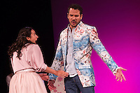 "Alejandro Albarracin and Macarena Sanz during theater play of ""Los desvarios del veraneo"" at Teatro Infanta Isabel in Madrid. July 19, 2016. (ALTERPHOTOS/Rodrigo Jimenez) NORTEPHOTO.COM"