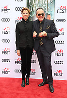 HOLLYWOOD, CA - NOVEMBER 12: Annette Bening, Elvis Costello, at the Film Stars Don't Die In Liverpool Special Screening AFI Fest 2017 at the TCL Chinese Theatre in Hollywood, California on November 12, 2017. <br /> CAP/MPI/FS<br /> &copy;FS/MPI/Capital Pictures