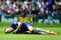 Eden Hazard of Chelsea grimaces after going down during Newcastle United vs Chelsea, Premier League Football at St. James' Park on 13th May 2018