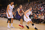 Turkish Airlines Euroleague 2017/2018.<br /> Regular Season - Round 23.<br /> FC Barcelona Lassa vs R. Madrid: 74-101.<br /> Gustavo Ayon, Petteri Koponen &amp; Luca Doncic.