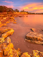 A Darwin beach at sunset
