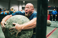 Brian Shaw (cq) and other strong men participate in the 2013 America's Strongest Man competition at the Las Vegas Convention Center in Las Vegas, Nevada, Friday, September 27, 2013.<br /> <br /> Photo by Matt Nager