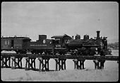 D&amp;RGW #475 K-28 on trestle.<br /> D&amp;RGW  Santa Fe, NM  Circa 1930