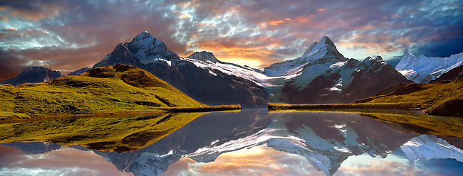 Grindelwald First Lake at sunset- Swiss Alps - Switzerland