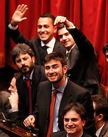 ROMA SEDUTA DI INSEDIAMENTO ALLA CAMERA DEI DEPUTATI DEL PARLAMEENTO ITALIANO.NELLA FOTO GRILLINI.FOTO CIRO DE LUCA