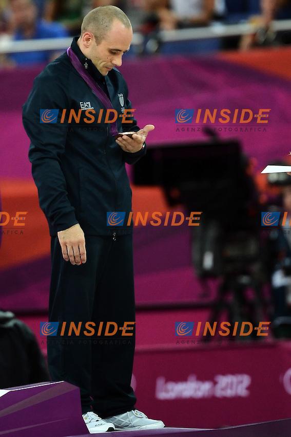 Matteo Morandi Italia Medaglia di Bronzo Ginnastica Artistica Anelli.London 6/8/2012 North Greenwich Arena.London 2012 Olympic games - Olimpiadi Londra 2012.Gymnastic Artistic - Ginnastica.Men's Rings - Anelli .Foto Andrea Staccioli Insidefoto