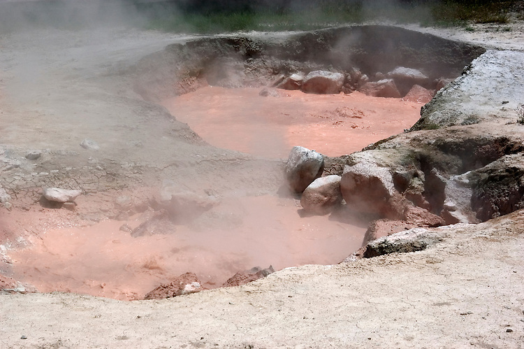 WY: Wyoming; Yellowstone National Park:.Red Spouter in Lower Geyser Basin..Photo #: yellow1290..Photo copyright Lee Foster, 510/549-2202, lee@fostertravel.com, www.fostertravel.com..