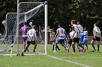 Valter Pedro Simao of Ilford scores the first goal for his team during Ilford vs Harwich & Parkeston, Emirates FA Cup Football at Cricklefields Stadium on 10th August 2019