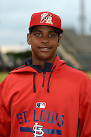 Palm Beach Cardinals pitcher Alex Reyes (29) poses for a photo before a game against the Lakeland Flying Tigers on April 16, 2015 at Joker Marchant Stadium in Lakeland, Florida.  Palm Beach defeated Lakeland 7-1.  (Mike Janes/Four Seam Images)
