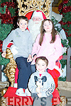 SANTA: Children who visited  Santa from Abbeyfeale at The manor West Retail park, Centre on Saturday, Erin Mcmahon (Abbeyfeale), Emily Keohan and Ryan Hand(Tralee).............................. ..........