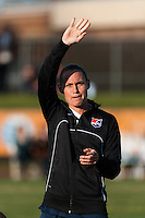 Sky Blue FC defender Christie Rampone (3) is introduced prior to playing the Western New York Flash. Sky Blue FC defeated the Western New York Flash 1-0 during a National Women's Soccer League (NWSL) match at Yurcak Field in Piscataway, NJ, on April 14, 2013.