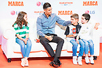 Cristiano Ronaldo  with some children during the ceremony of 'Marca Leyenda' Award in Madrid. July 29, 2019. (ALTERPHOTOS/Francis González)