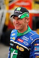Oct. 3, 2009; Kansas City, KS, USA; NASCAR Nationwide Series driver Clint Bowyer prior to the Kansas Lottery 300 at Kansas Speedway. Mandatory Credit: Mark J. Rebilas-