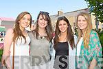 Sarah Flynn, Patricia Bennett, Sarah Daly and Amanda Langston Killorglin  enjoying the Flavours of Killorglin fair on Saturday