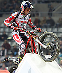 10.02.2013. Barcelona, Spain. FIM X Trial World Championship. Picture show Adam Raga riding Gas Gas in action during GP of Catalunya at Palau St. Jordi