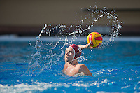 STANFORD, CA - October 9, 2010: Forrest Watkins during a water polo game against USC in Stanford, California. Stanford beat USC 5-3.