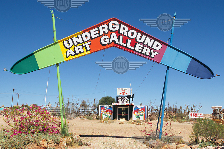 The entrance to an underground art gallery.