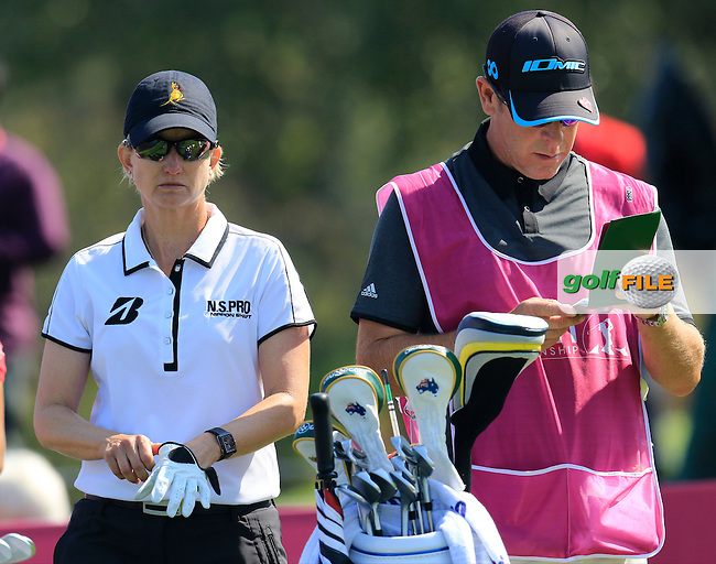 Karrie Webb (AUS) on the 6th tee during Friday's Round 2 of the LPGA 2015 Evian Championship, held at the Evian Resort Golf Club, Evian les Bains, France. 11th September 2015.<br /> Picture Eoin Clarke | Golffile