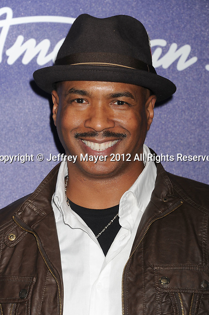 LOS ANGELES, CA - MARCH 01: Ray Chew arrives at the American Idol Finalists party at The Grove Parking Structure Rooftop on March 1, 2012 in Los Angeles, California.