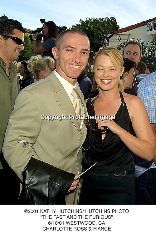 "©2001 KATHY HUTCHINS/ HUTCHINS PHOTO.""THE FAST AND THE FURIOUS"".6/18/01 WESTWOOD, CA.CHARLOTTE ROSS & FIANCE"