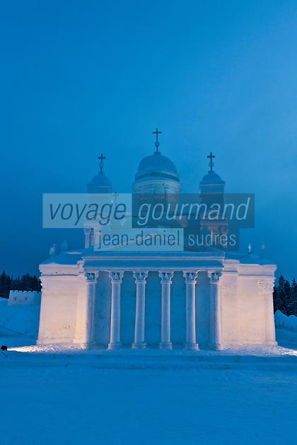 Europe/Finlande/Laponie/Levi: Icium, Parc d'attractions éphémère de sculptures sur glace