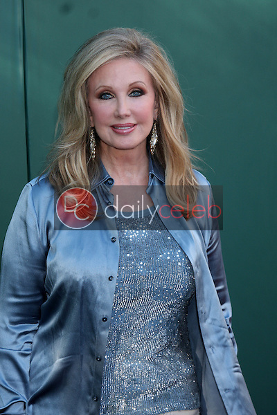 LOS ANGELES - JUL 8:  Morgan Fairchild at the Crown Media Networks July 2014 TCA Party at the Private Estate on July 8, 2014 in Beverly Hills, CA