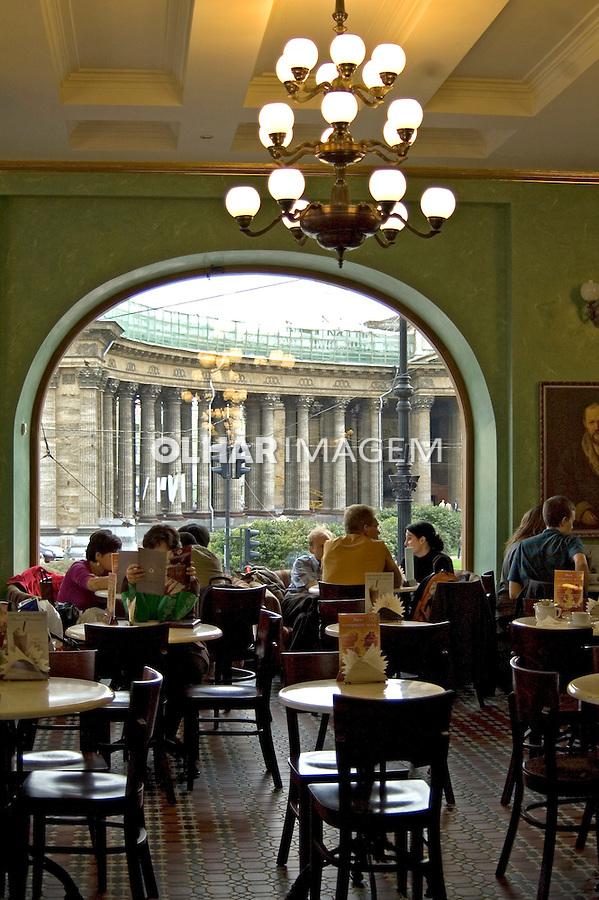 Restaurante em biblioteca. São Petersburgo. Russia. 2008. Foto de Cris Berger.