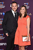 Jessica Ennis-Hill and husband, Andy Hill<br /> at the BT Sport Industry Awards 2017 at Battersea Evolution, London. <br /> <br /> <br /> ©Ash Knotek  D3259  27/04/2017