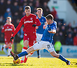 23.02.2020 St Johnstone v Rangers: Florian Kamberi and Anthony Ralston