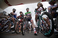 at the start in Verviers<br /> <br /> 2013 Ster ZLM Tour <br /> stage 4: Verviers - La Gileppe (186km)