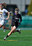 28 April 2012: University at Albany Great Dame midfielder Meghan Haney, a Sophomore from Baldwinsville, NY, in action against the University of Vermont Catamounts at Virtue Field in Burlington, Vermont. The Lady Danes defeated the Lady Cats 12-10 in America East Women's Lacrosse. Mandatory Credit: Ed Wolfstein Photo