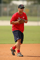 September 30, 2009: Infielder Miles Head of the Boston Red Sox organization before an instructional league game at Ft. Myers Training Complex in Fort Myers, FL.  Photo By David Stoner/Four Seam Images