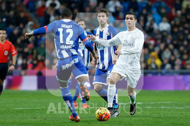 Real Madrid´s Cristiano Ronaldo during 2015/16 La Liga match between Real Madrid and Deportivo de la Coruna at Santiago Bernabeu stadium in Madrid, Spain. January 09, 2015. (ALTERPHOTOS/Victor Blanco)