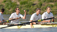 London, GREAT BRITAIN,  Cambridge's  Kieran West [eft], Sebastian Schulte, Thorsten Engelmann, celebrate after winning  the 2007 Boat Race between Putney and Mortlake, on  Sat. April 7th. England [Photo Peter Spurrier/Intersport Images] Varsity Boat Race, Rowing Course: River Thames, Championship course, Putney to Mortlake 4.25 Miles,