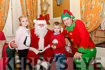 Seen at The Towers Hotel Christmas Fayre visiting Santa's Grotto <br /> Lynn Marie &amp; Liam Koehler from Glenbeigh with Santa and his Elf
